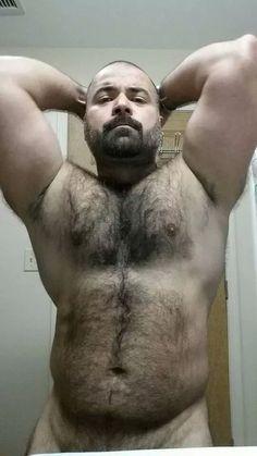 Hairy Muscle Bear. Beards. Men.