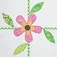 Flower Patch by Ann Weber; Quiltmaker's 100 Blocks Volume 5; quiltmaker.com/100blocks