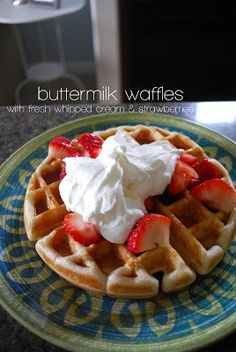 the dish on delish: buttermilk waffles