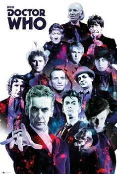 Doctor Who Doctors Collage Sci Fi British TV Television Show Poster Print, Rolled 12 by This poster features a collage of all the doctors from the classic BBC television series Doctor Who. Poster Doctor Who, Art Doctor Who, Doctor Who 2005, 12th Doctor, Dr Who, Crossover, Die Füchsin, Doctor Who Convention, Science Fiction