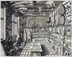 Kunstkammer or Wunderkammer (Theater of the world) Engraving from Ferrante Imperato.