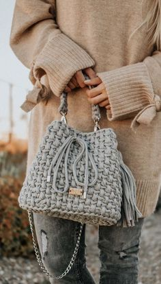 Best And Creative Crochet Bag Patterns 2019 - Seite 20 von 39 - Womenselegance. Best And Creative Crochet Bag Patterns 2019 - Seite 20 von 39 - Womenselegance. com, Como fazer essa peça em crochê Dusty pink small backpack T-shirt yarn Women rucksack Eco Crochet Pattern Free, Free Crochet Bag, Bag Pattern Free, Bag Patterns To Sew, Knit Crochet, Crochet Bags, Crochet Patterns, Patron Crochet, Tapestry Crochet
