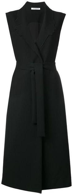 Vivetta sleeveless belted coat Work Fashion, Fashion Outfits, Womens Fashion, Coat Dress, Dress Up, Ärmelloser Mantel, Fashion Illustration Template, Sleeveless Coat, Mode Top
