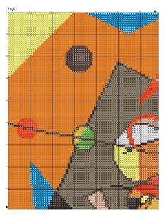 Schematic cross stitch Kandinsky 1