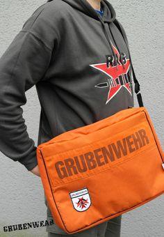 GrubenWear Laptoptasche!  Feuerfester Stoff der Grubenwehrklamotten - da kann es ruhig mal heiss hergehen :)'