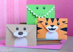 Bear Tiger and Crocodile Envelopes