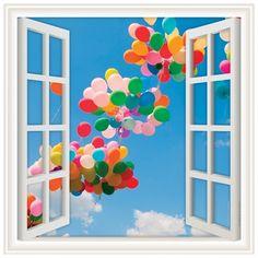 Window Views Wall Graphics from Walls 360: BalloonSky