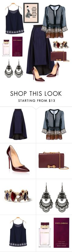 """don't need approval"" by teresalovespink ❤ liked on Polyvore featuring Alberta Ferretti, Christian Louboutin, Valentino, Chloe + Isabel, Free Press and Dolce&Gabbana"