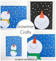 snowman crafts for kids. winter activity idea.