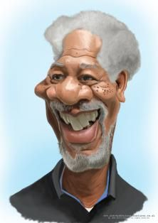 Steve_Roberts: Morgan freeman Caricature. There is a step by step process available on my blog if you would like to see more.