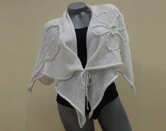White long womens cardigan sweater Oversized by CleopatraArt, €54.00