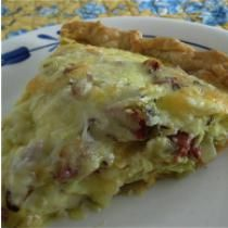 Corned Beef and Cabbage Quiche