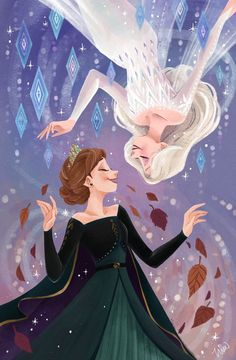 Anna et Elsa Frozen Disney, Princesa Disney Frozen, Disney Magic, Punk Disney, Disney Princess Drawings, Disney Princess Art, Disney Drawings, Frozen Pictures, Disney Pictures