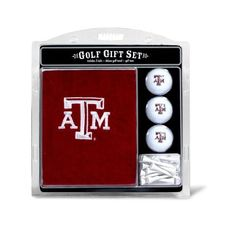 """NCAA Alabama Embroidered Team Golf Towel Gift Set by Team Golf. Three regulation imprinted golf balls with 12 regulation golf tees. 16"""" x 22"""" tri-fold embroidered towel. 100% cotton towel. Checkered scrubber design. Swivel clip for easy attachment and removal from golf bag."""