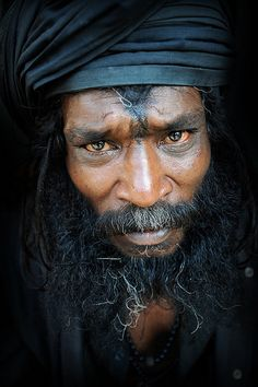 Kedarnath, India....ok, this guy is like interesting to look at, but not in person.  He's got that rare mix of looks that makes him frightening and like, think, what the...