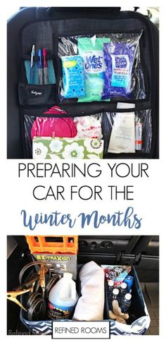 With the right products, Winter car organization is a breeze! Click through to see how to prepare your car for the winter months Bmw I8, Winter Car Kit, Gs500, Car Essentials, Car Hacks, Diy Car, Diy For Teens, Kids Diy, Kids Crafts
