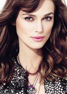 a lighter version of the keira knightley signature makeup
