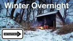 Winter Overnight at the Backwoods Shelter - YouTube