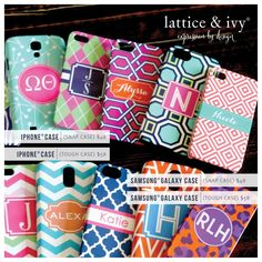 Personalized phone cases!   www.latticeandivy.com/Tracyroyster