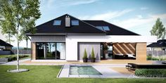 Find home projects from professionals for ideas & inspiration. Projekt domu HomeKONCEPT 29 by HomeKONCEPT New House Plans, Dream House Plans, Modern House Plans, Modern House Design, Residential Architecture, Architecture Design, Building Design, Building A House, Bungalow Renovation