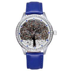 Dámské hodinky se zirkony strom modré – dámské hodinky Na tento produkt se  vztahuje nejen zajímavá 713c4cb2965