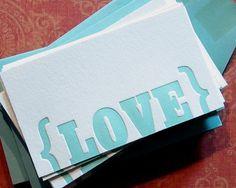 letterpress love cards