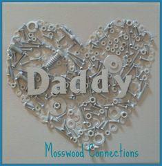 Best Christmas Gifts for Dad What To Get Dad For Christmas DIY Christmas Presents To Make For Parents - DIY Nuts and Bolts Heart Craft - Cute, Easy and Cheap Crafts and Gift Ideas. Christmas Presents To Make, Christmas Gift For Dad, Christmas Diy, Christmas Projects, Diy Christmas Presents For Mom, Holiday Crafts, Diy Christmas Crafts To Sell, Christmas Stocking, Halloween Crafts