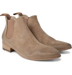 Marsell - Washed-Suede Chelsea Boots