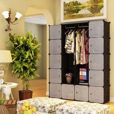 Steckregalsystem kleiderschrank  XXL Regal Faltschrank Kleiderschrank Sideboard Garderobe ...
