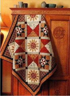 Country Sunflowers Quilt Pattern Pieced/Applique DN