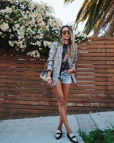 "JULIE SARIÑANA (@sincerelyjules) on Instagram: ""Meetings ✔️ Errands ✔️ @majorelle_collection blazer via @revolve ✔️"""