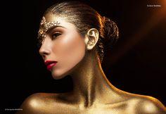 Mohsin Kawar Photography As featured on Dark Beauty Magazine High Fashion Makeup, Love Fashion, Fashion Art, Dark Beauty Magazine, Woman In Gold, Dance Makeup, Beauty Makeup Photography, Golden Hair, Fashion Photography Inspiration