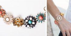 It's Back! Designer Inspired Flower Garden Bracelet! Stunning!   Very Jane