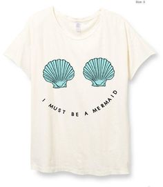 Womens Boho Mermaid Shell Vintage Retro Tee Shirt Graphic Top Bohemian Cotton Fashion Short Sleeve T Mermaid Shell, White Short Sleeve Shirt, Vintage Tee Shirts, White Cotton T Shirts, Cotton Tee, Mermaid Outfit, Boho Tops, Retro Vintage, Vintage Graphic