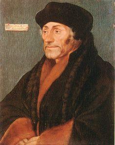 Erasmus of Rotterdam by Hans Holbein, c.1497-98. (Robert Lehman Collection)