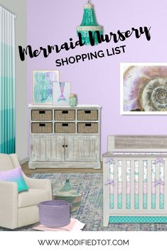 Are you searching for the perfect crib bedding for your mermaid nursery? Check out this nursery design idea board for some great ideas! Nursery Curtains, Nursery Room, Baby Room, Crib Bedding, Sea Nursery, Child Room, Baby Girl Nursery Themes, Baby Boy Nurseries, Nursery Ideas