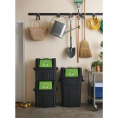 Rubbermaid, 36.5 gal. Stackable Recycling Bin, 1803654 at The Home Depot - Mobile