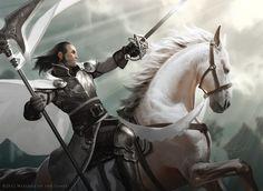Jason Chan Art: Overdue Magic: The Gathering Update #fighter #cavalier