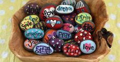 """""""Painted rocks – why would I want to do that? And I say, because… """"Painted rocks – why would I want to do that? I saw a few painted rocks on net and then did a little research Pin: 600 x 466 Kids Crafts, Diy And Crafts, Craft Projects, Arts And Crafts, Project Ideas, Summer Crafts, Tape Crafts, Creative Crafts, Pebble Painting"""