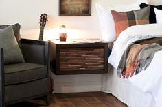 Woodwaves - Google+ Nightstand Plans, Wood Nightstand, Floating Nightstand, Nightstands, Wall Mounted Headboards, Big Blank Wall, Wall Shelf Unit, Wall Spotlights, Light Grey Walls