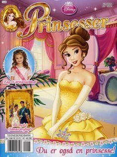 Cover for Disney Prinsesser (Hjemmet / Egmont, 1999 series) Disney Princess Jasmine, Princess Belle, Disney Love, Disney Art, Disney Princesses, Disney Characters, Belle Beauty And The Beast, Comics Story, Walt Disney Company