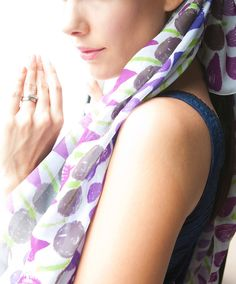 https://www.cityblis.com/6209/item/9611  Geometry Silk Scarf, at 40.00% off by Vinge Fashion  - oversized silk chiffon scarf  - this genuine hand drawn pattern is printed on the luxurious silk chiffon fabric with high quality digital printing method  Dimension: 110 cm x 110 cm Material:  100% silk