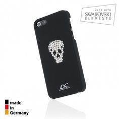 Diamond Cover Skull Case iPhone 5S iPhone 5 Snap Cover with Swarovski Elements