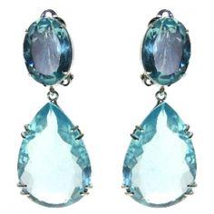 Blue Quartz Earring  Price: $525.00