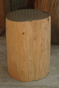 Tall cypress clad table by ecotables