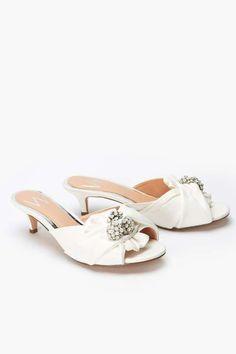 97f40ef0cf4 White Kitten Embellished Heel Wedding Shoe