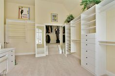 converting room into walk in closet   ... closet – check it out! (It could be converted back to bedroom easily