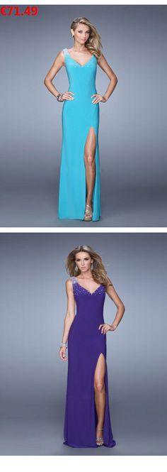005d911e31a3 V-Ausschnitt lange schicke Abendkleider günstig online bestellen