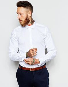 ASOS Smart Shirt In Stretch Fabric