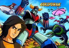 Goldorak, littéralement Grendizer (le robot OVNI), est une série animée japonaise réalisée par Tōei animation en 1975 d'après un manga de Gō Nagai. La série compte 74 épisodes de 26 minutes. Elle a été diffusée en France sur Antenne 2 dans l'émission Récré A2 le 3 juillet 1978. Robot Cartoon, Arte Robot, Super Robot, Animation, Classic Cartoons, Manga, Japanese Art, Original Artwork, Disney Characters